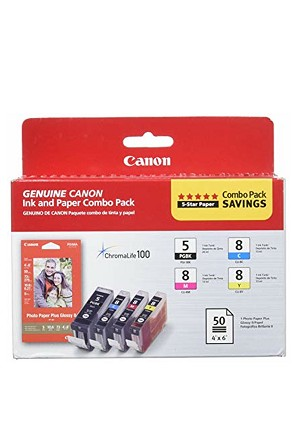 Canon PGI-5/CLI-8 with Photo Paper 50 Sheets (0628B027)