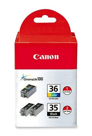 Canon PGI-35/CLI-36 2 Black and 1 Value Pack (1509B007)