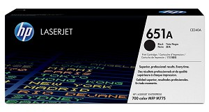 HP 651A (CE340A) LaserJet Enterprise 700 Color MFP M775 Black Original LaserJet Toner Cartridge (13500 Yield)  (CE340A)