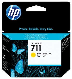 HP 711 (CZ132A) Yellow Original Ink Cartridge (29 ml) (CZ132A)