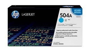 HP 504A (CE251AG) Cyan Original LaserJet Toner Cartridge for US Government (7000 Yield)  (CE251AGOV)
