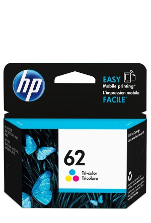 HP 62 (C2P06AN) Tri-Color Original Ink Cartridge (165 Yield)  (C2P06AN)