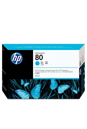 HP 80 (C4846A) Cyan Original Ink Cartridge (350 ml)  (C4846A)