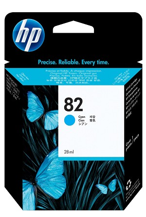 HP 82 (C4911A) Cyan Original Ink Cartridge (69 ml)  (C4911A)