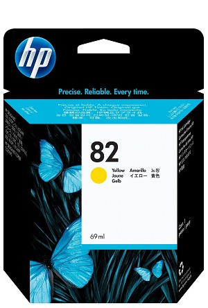 HP 82 (C4913A) Yellow Original Ink Cartridge (69 ml)  (C4913A)