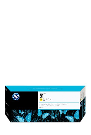 HP 81 (C4933A) Yellow Original Ink Cartridge (680 ml) (1000 Yield)  (C4933A)