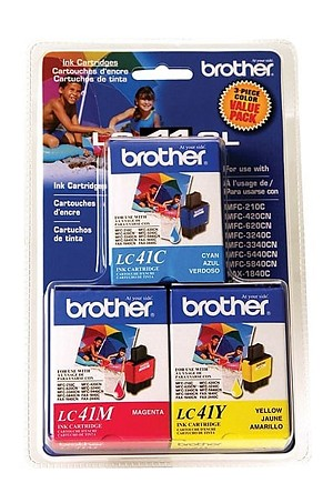 Brother 3 Pack - 1 ea. Cyan, Magenta, Yellow (LC41CL3PKS)