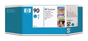 HP 90 (C5060A) Cyan Original Ink Cartridge (225 ml)  (C5060A)
