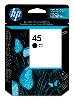 HP 45 (51645A) Black Original Ink Cartridge (930 Yield)  (51645A)